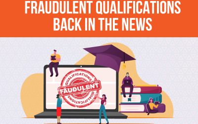 FRAUDULENT QUALIFICATIONS BACK IN THE NEWS
